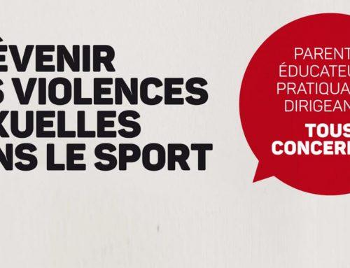 Prévention des violences sexuelles dans le sport